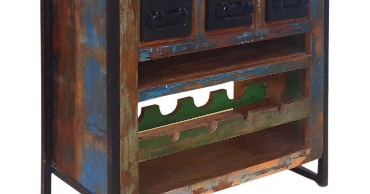 Artistiq Wijnkastje 'Bali Vintage' multicolor   4055195358708