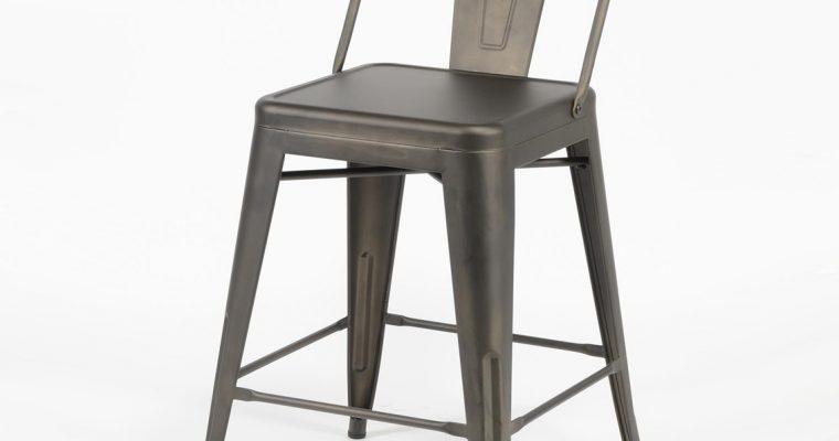 Barstoel 'Bistro' Industrieel (zithoogte 61cm) | 8713244036125