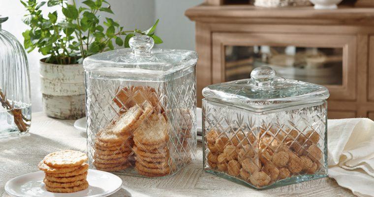 Glazen pot set van 2 Cherie | 4250769227262 | LOBERON