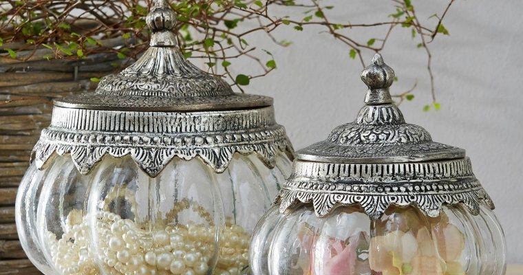 Glazen pot set van 2 Madelon | 4250769235564 | LOBERON