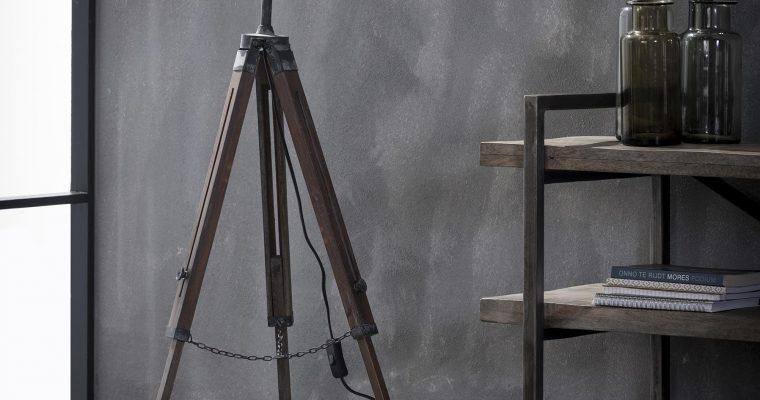 Vloerlamp iron houten statief / Grijs |