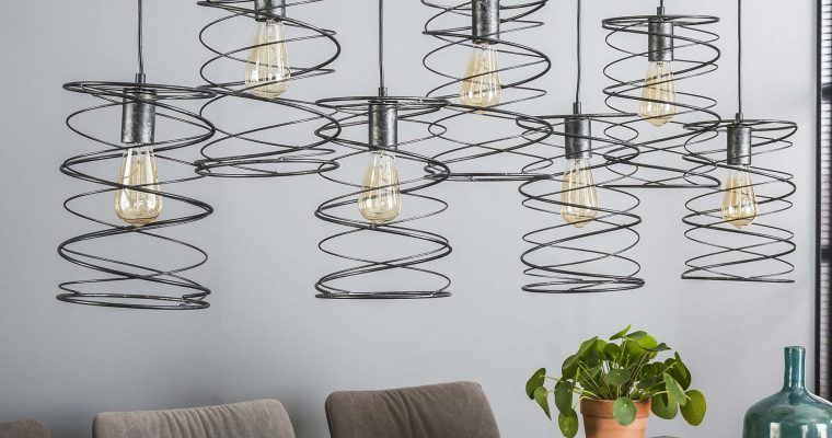 Hanglamp 7×20 curl / Charcoal |