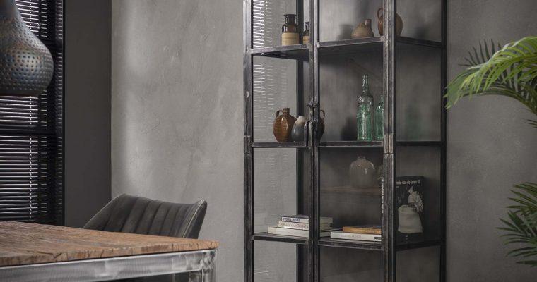 Industriële Vitrinekast 'Rift Metal' 90 x 190cm | 8713244058639
