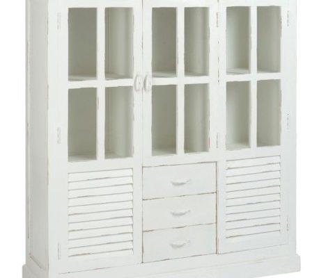 J-Line Vitrinekast 'Françinne' 145cm, kleur wit | 5415203710307