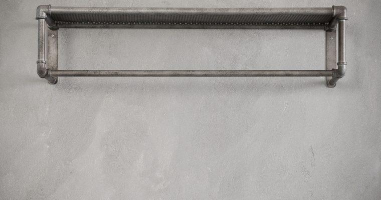 Kapstok roede industrial tube / Oud zilver |