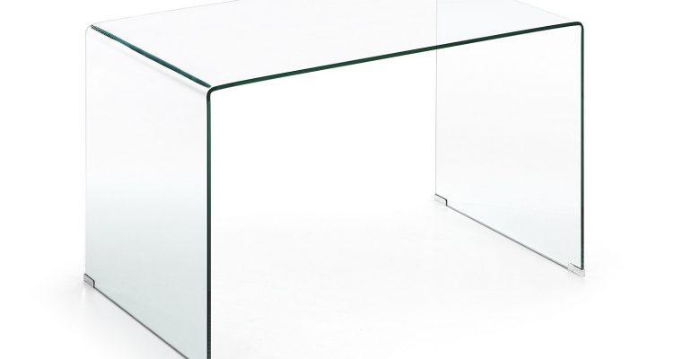 Kave Home Glazen Bureau 'Burano', 125 x 70 cm | 8433840292922