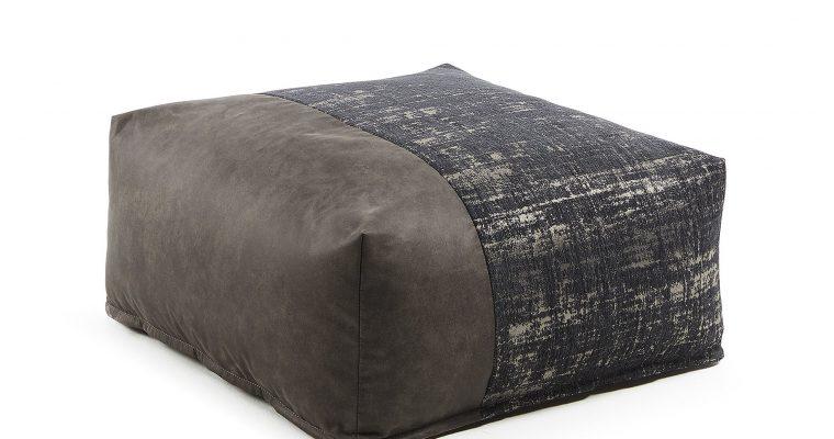 Kave Home Poef 'Nazca' 70cm, kleur Donkergrijs | 8433840470436