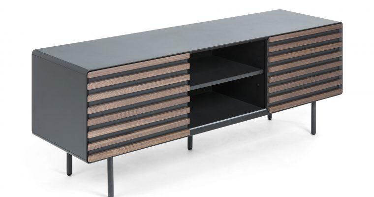 Kave Home Tv-meubel 'Kesia' 162cm, kleur Donkergrijs   8433840460055