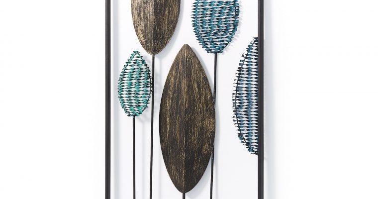 Kave Home Wandpaneel 'Leaves' 104 x 54cm, kleur Multicolor   8433840444444