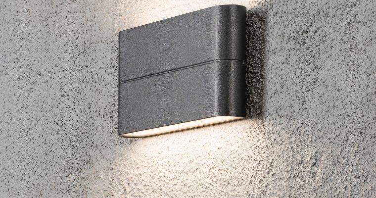 Konstsmide Buitenlamp 'Chieri' Wandlamp 17cm, PowerLED 2 x 6W / 230V, kleur Antraciet | 7318307973372