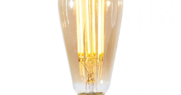 Kooldraadlamp 'Peer' E27 LED 4W goldline 14cm, dimbaar | 8713244100222
