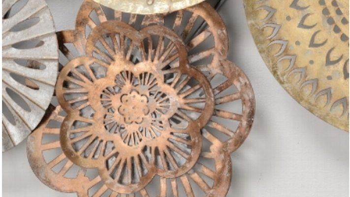 Muurdecoratie metaal gekleurd 3D 111 cm | 7439647092070