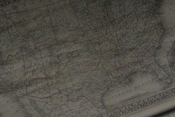 Oude landkaart Amerika 104 x 94 cm | 8717677737482