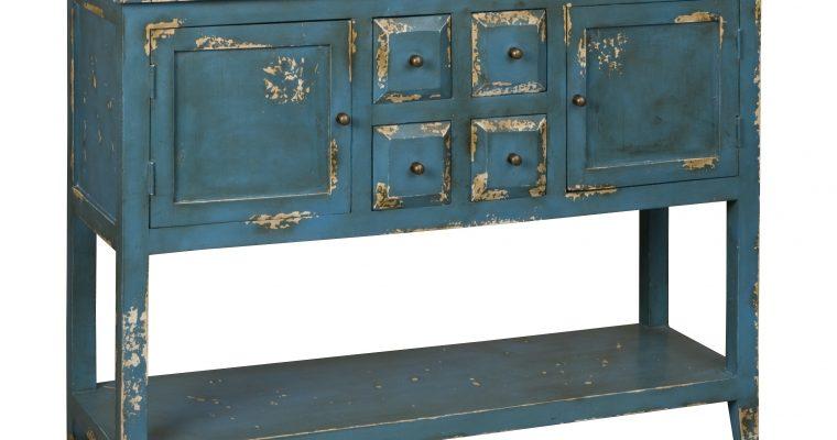 RENEW Sidetable 'Valon' kleur blauw |