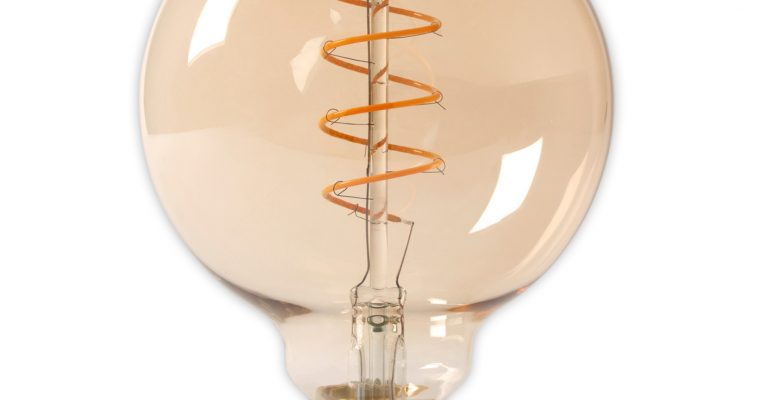 Spiraallamp 'Bol XL' E27 LED 4W goldline Ø12,5cm, dimbaar | 8712879025337