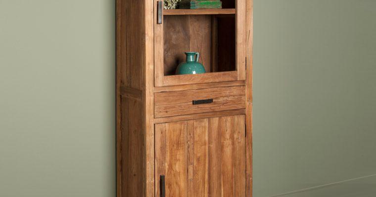 Tower Living Vitrinekast 'Lorenzo' met 2 deuren en 1 lade |