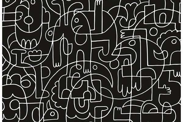 Urban Cotton wandkleed Doodles 80x110cm | Urban cotton