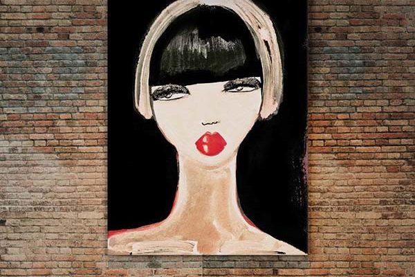 Urban Cotton wandkleed Lady in Red L 130x177cm | Urban cotton