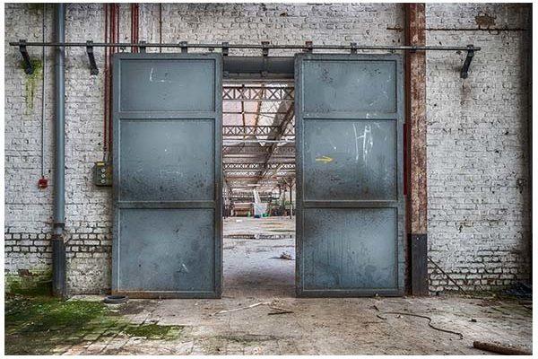 Urban Cotton wandkleed Spinning doors 110x152cm   Urban cotton