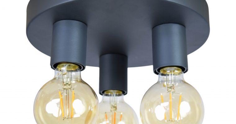Urban Interiors plafondlamp 'Triple' Ø25cm, kleur Vintage Black | 8719325171433