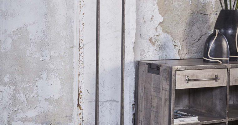 Vloerlamp rechthoek raster met 2 lampen / Oud zilver |