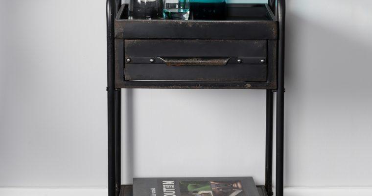 ZILT Industriële Trolley 'Wladimir' vintage metaal, kleur zwart | 8718548036611