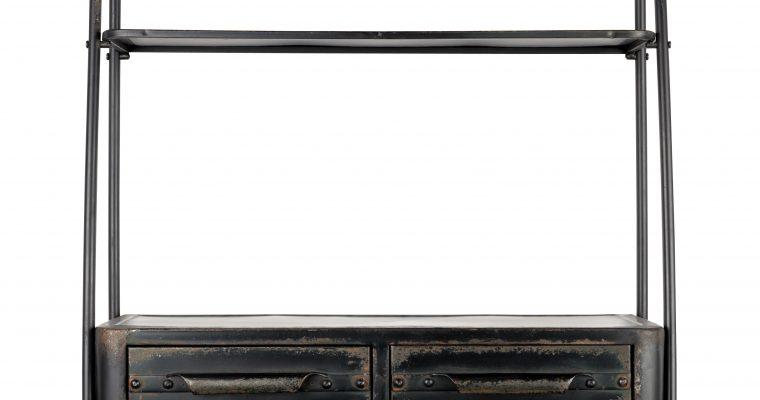 ZILT Industriële Wandplank 'Micah' vintage metaal 81cm   8718548036642