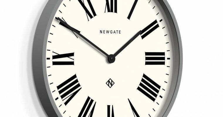 Newgate Wandklok Number one Italian grijs | NUMONE148PGY | Newgate