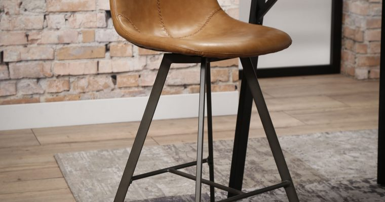 Barstoel 'Celia', Vintage PU-leder, kleur Cognac   8713244137075