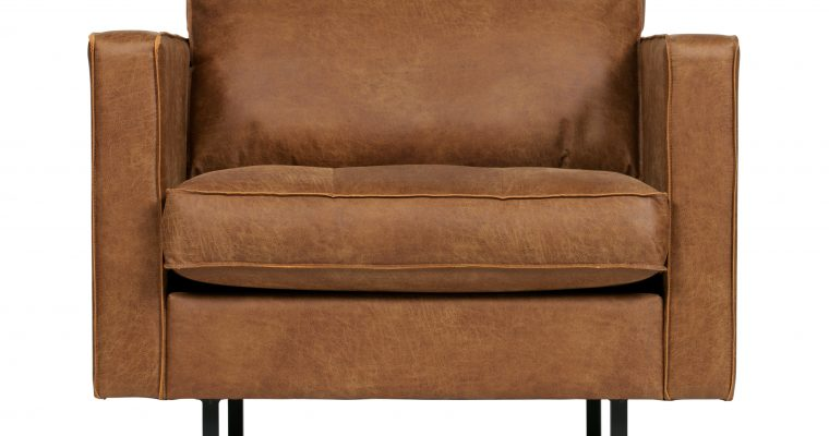 BePureHome Fauteuil 'Rodeo Classic', kleur Cognac | 8714713082353