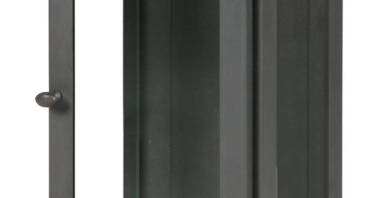 BePureHome Hangende Vitrinekast 'Manta' L, kleur Grijs | 8714713076185