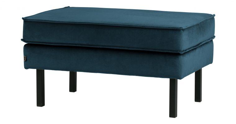 BePureHome Hocker 'Rodeo' Velvet, kleur Blauw | 8714713082513