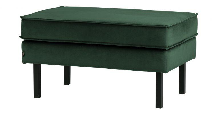 BePureHome Hocker 'Rodeo' Velvet, kleur Groen | 8714713082551
