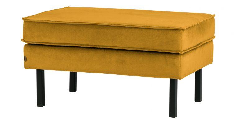 BePureHome Hocker 'Rodeo' Velvet, kleur Oker | 8714713082599
