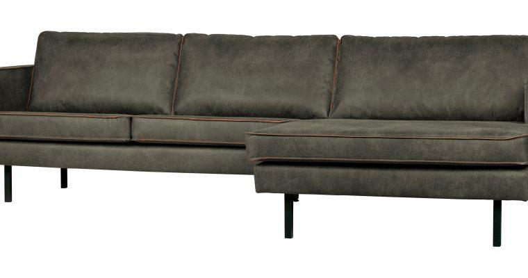 BePureHome Loungebank 'Rodeo' Rechts, Eco Leder, kleur Legergroen | 8714713082919