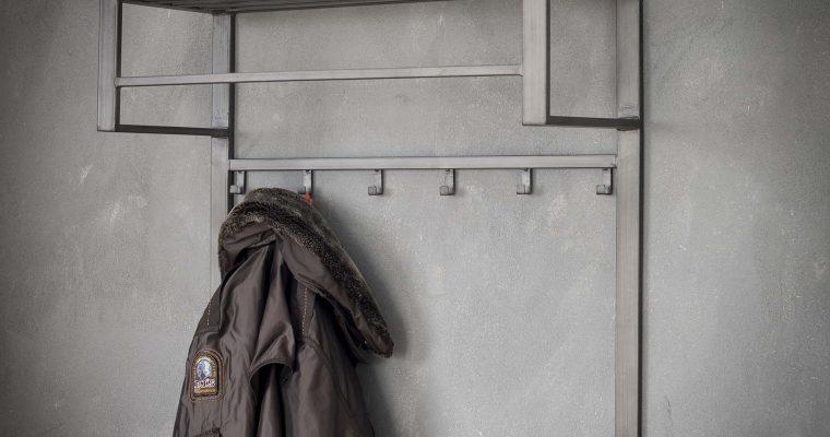 Industriële Kapstok 'Terry' 80cm, met 2 x 6 haken | 8713244055737