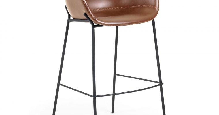 Kave Home Barkruk 'Yvette' (zithoogte 74cm), kleur Bruin   8433840520360