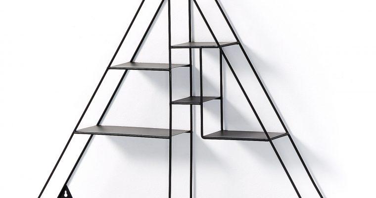Kave Home Wandrek 'Nils' driehoek, kleur Zwart | 8433840440842