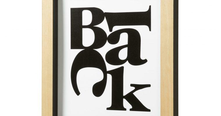 LaForma Wanddecoratie 'Arcade' met typografische print OP=OP   8433840324364
