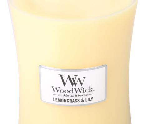 Woodwick Lemongrass & Lily Large Candle   302005   Woodwick