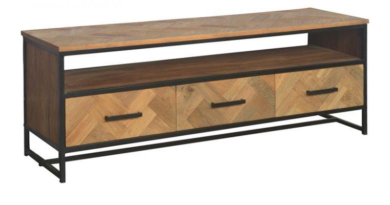 LivingFurn TV-meubel 'Accent' Teak en staal, 150 cm |