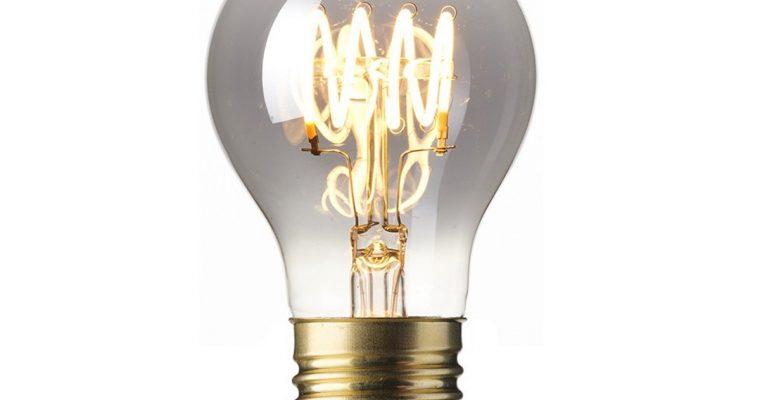 Spiraallamp 'Bol' E27 LED 4W Titanium Rustic, dimbaar | 8712879138457