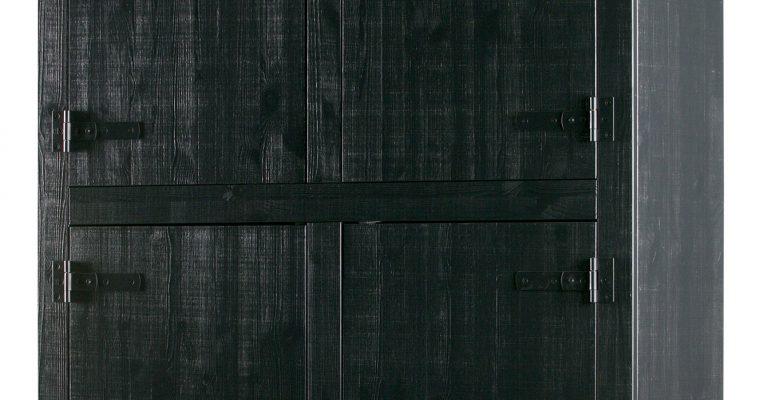 vtwonen Opbergkast 'Bunk', kleur Zwart | 8714713077731