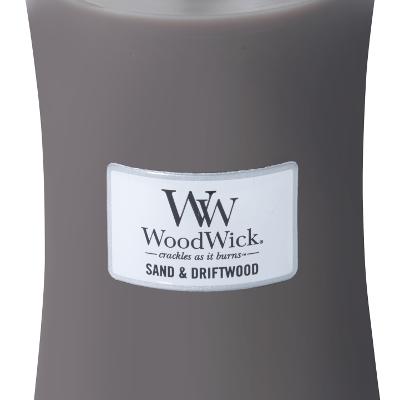 Woodwick Sand & Driftwood Large Candle | 303105 | Woodwick