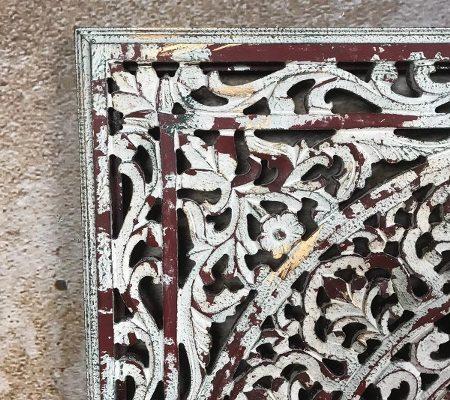 Houtsnijwerk paneel Barcelona antique white 90 x 90 cm | 7439647089049