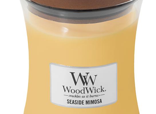Woodwick Seaside Mimosa Medium kaars | 92085E | Woodwick