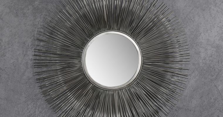 Spiegel 80 sun (spiegelglas 30CM) / Antiek Nikkel  