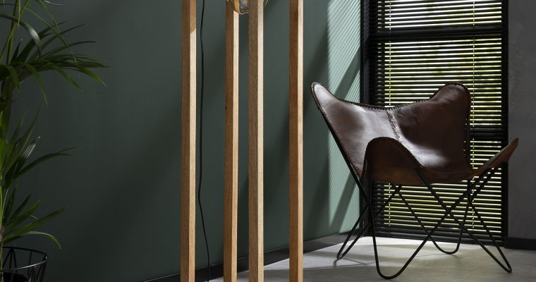 Vloerlamp 25×25 houten frame / Massief mango naturel |