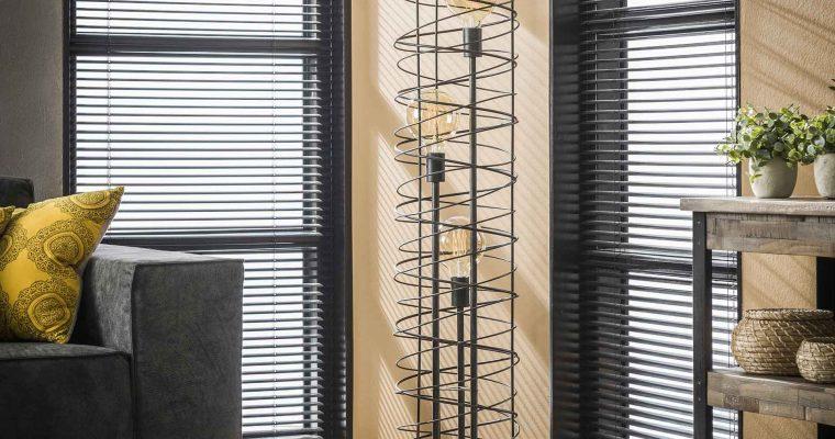 Vloerlamp 3L spiraal 28 cilinder / Charcoal |