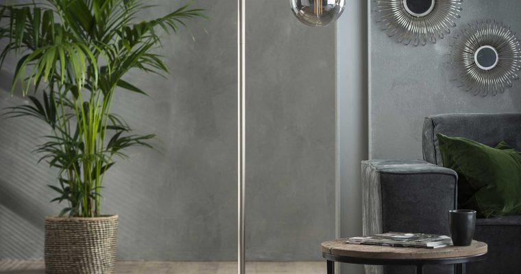 Vloerlamp U-vormige buis / Mat nikkel |